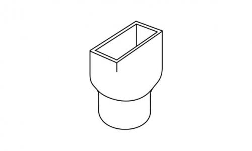 Icon Plastics 187 100 215 50 Rectangular Downpipe