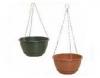 200mm & 250mm Hang Basket Terracotta Brunswick Green