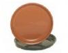 380mm Ribbed Pot Saucer Terracotta  Brunswick Green