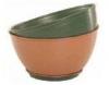 380mm Ribbed Pot Terracotta  Brunswick Green