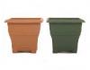 Square Decorative Pot 150, 250, 300 & 430mm Terracotta  Brunswick Green