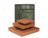 Square Decorative Pot Saucer 150, 250, 300 & 430mm Terracotta  Brunswick Green