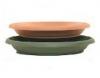 Vesna Design Round Saucer 134, 157, 248, 298, 348, 395, 450, 500mm Terracotta  Brunsw